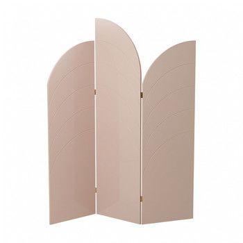 - ferm LIVING Unfold Raumteiler 3324 - rosa/innere Wabenstruktur/150x180x1.8cm