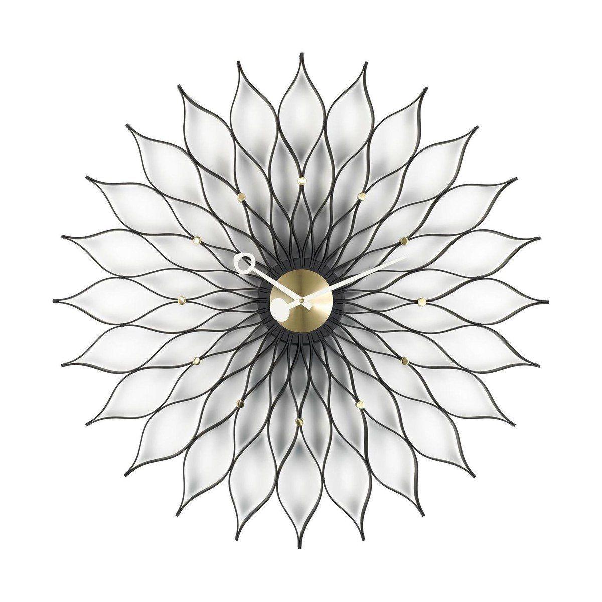 sunflower clock nelson - horloge murale | vitra | ambientedirect