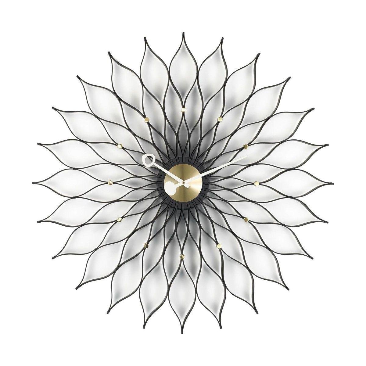 sunflower clock nelson  vitra  ambientedirectcom - vitra  sunflower clock nelson  brassblackØcm