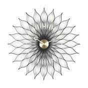 Vitra - Sunflower Clock Nelson Wanduhr - messing/schwarz/Ø75cm