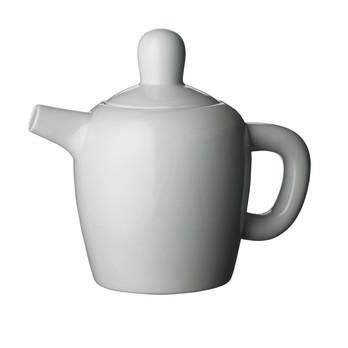 Muuto - Bulky Teekanne - grau/H: 30cm/Porzellan