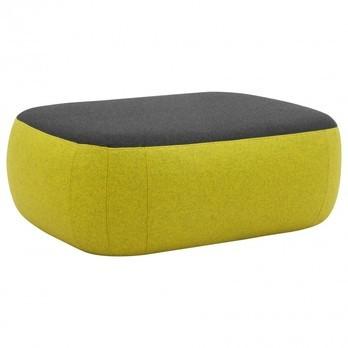 Softline - Sand Pouf - gelb/schwarz/Stoff Filz 847/610/BxHxT 85x30x67cm