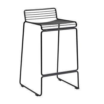 HAY - Hee Barhocker 65 - schwarz/lackiert/43x45x76cm/Sitzhöhe: 65cm/für Innen- und Außerbereich geeignet