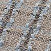 GAN - Garden Layers Small Checks Kissen - blau/Handwebstuhl/LxB 45x45cm