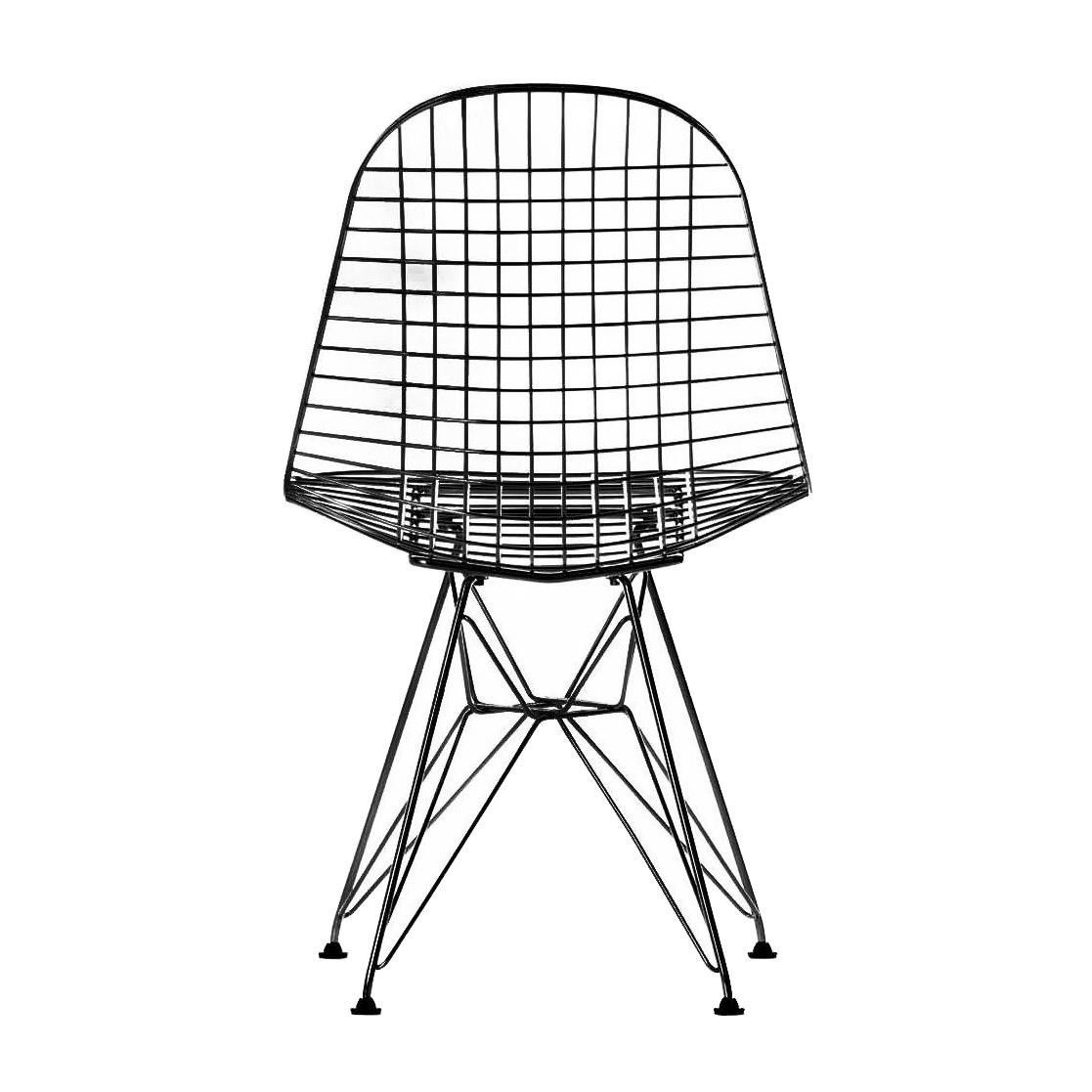 Eames wire chair dkr chaise 42cm vitra for Pietement eames