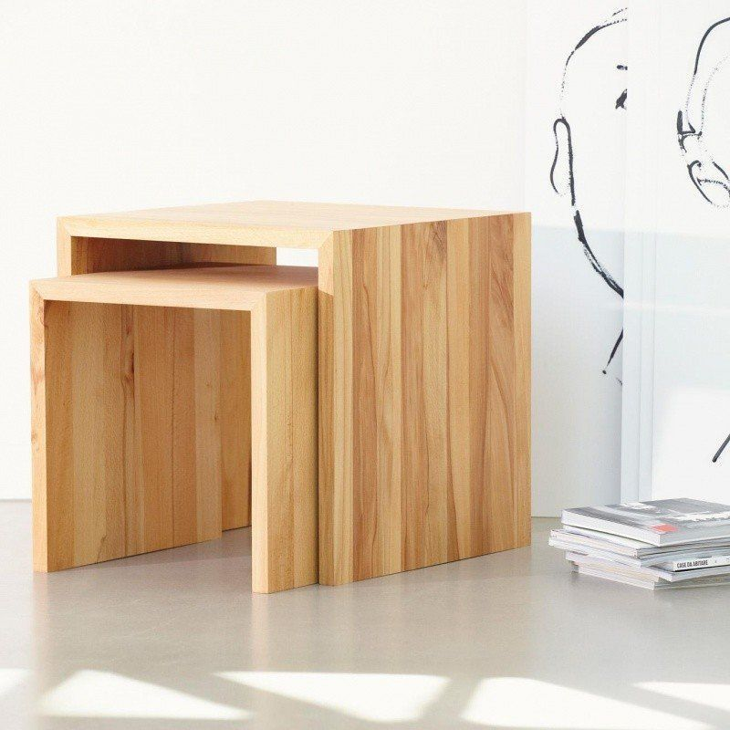 jan kurtz cubus hocker holz ambientedirect. Black Bedroom Furniture Sets. Home Design Ideas