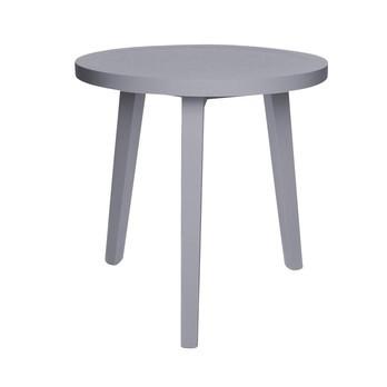 Gervasoni - Gray 42 Beistelltisch - eiche grau / Ø50cm/gebeizt/H: 50cm