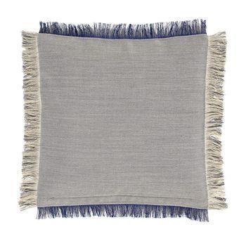 HAY - Fray Kissen 50x50cm - grau/lila/Rückseite dunkelgrau