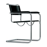 Thonet - Chaise cantilever avec accoudoirs S 34 cuir