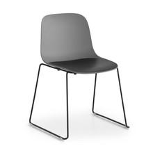 Lapalma - S310 Seela Stuhl mit Kufengestell schwarz
