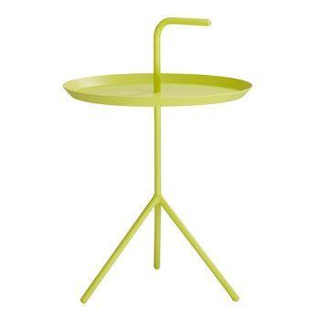 HAY - DLM XL Beistelltisch - gelb/Ø48.2cm/Höhe Ablage: 49,5cm