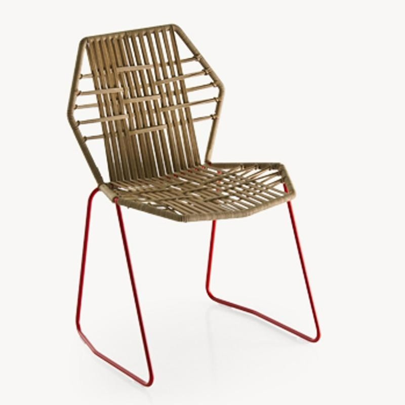 ... Moroso   Tropicalia Chair   Light Brown/PVC Glides/frame Stainless  Steel Red/ ...