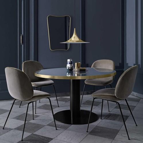 Gubi - 2.0 Dining Table Tisch Gestell schwarz Ø110cm