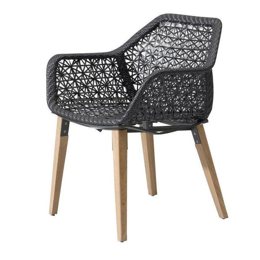 Maia - Chaise de jardin piètement en bois | Kettal | AmbienteDirect.com