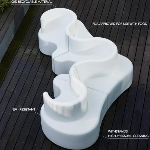 VerPan - Cloverleaf In/Outdoor Sofa 371x158x80cm