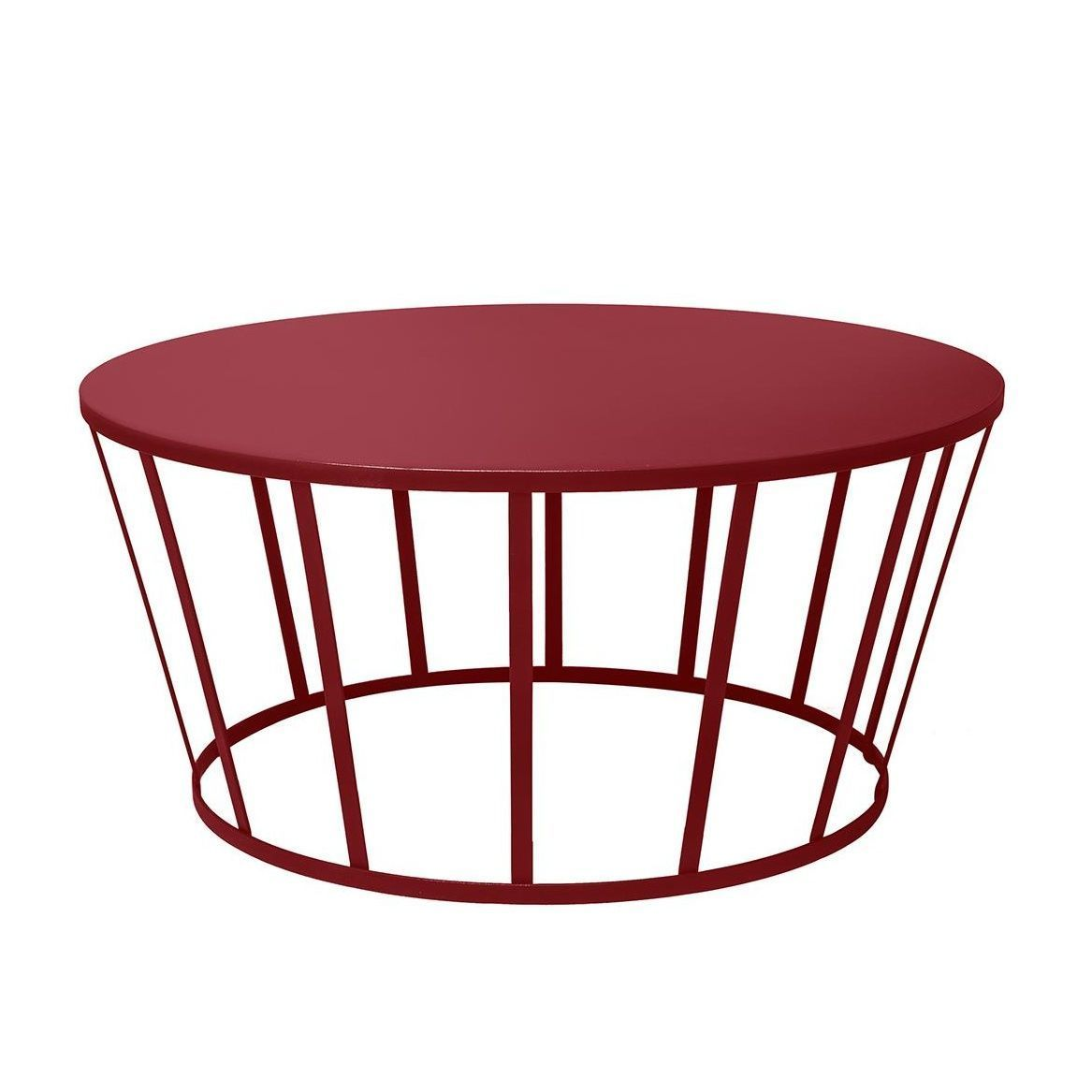 Hollo Coffee Table Ø70cm   Burgundy Red/H 33cm