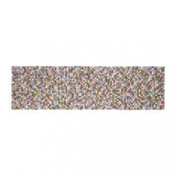 - Greta Tischläufer - lila/hellblau/weiß/grün/40x140cm