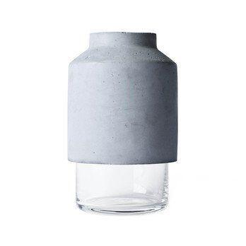 Menu - Willmann Vase - grau/H 20, Ø 12cm