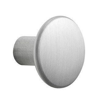 Muuto - The Dots Kleiderhaken Metall S - aluminium/Ø 2.7cm