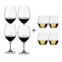 Riedel - Vinum Wine Glass Gift Set 4+4