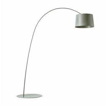 Foscarini - Twiggy Stehleuchte - graubeige/Glasfaser/dimmbar/LxBxH 170x46x195cm
