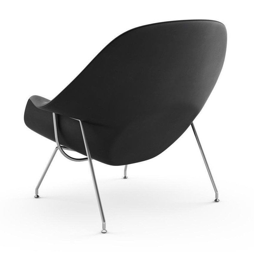 ... Knoll International   Womb Chair Relax Leather Frame Chrome