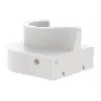 VerPan - Cloverleaf In/Outdoor Sofaelement rechts - weiß/UV-beständig/100% recyclebar/LxBxH 114.5x115.5x80cm