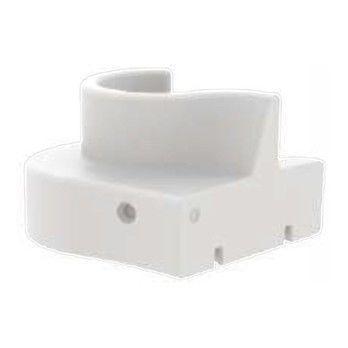 - Cloverleaf In/Outdoor Sofaelement rechts - weiß/UV-beständig/100% recyclebar/LxBxH 114.5x115.5x80cm