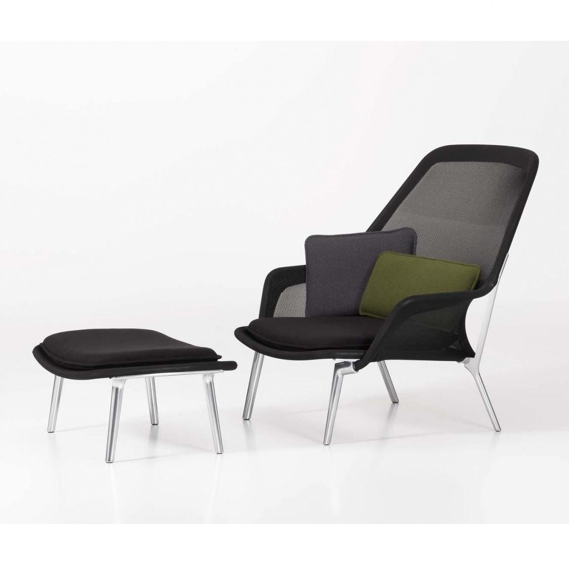 slow chair lounge chair ottoman vitra. Black Bedroom Furniture Sets. Home Design Ideas