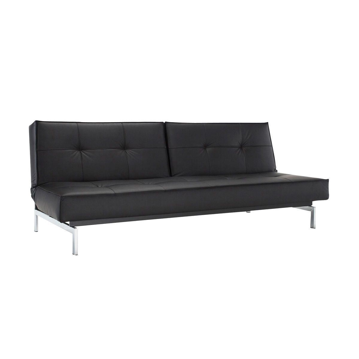 Splitback sofa bed chrome innovation ambientedirectcom for Sofa bed dimensions unfolded