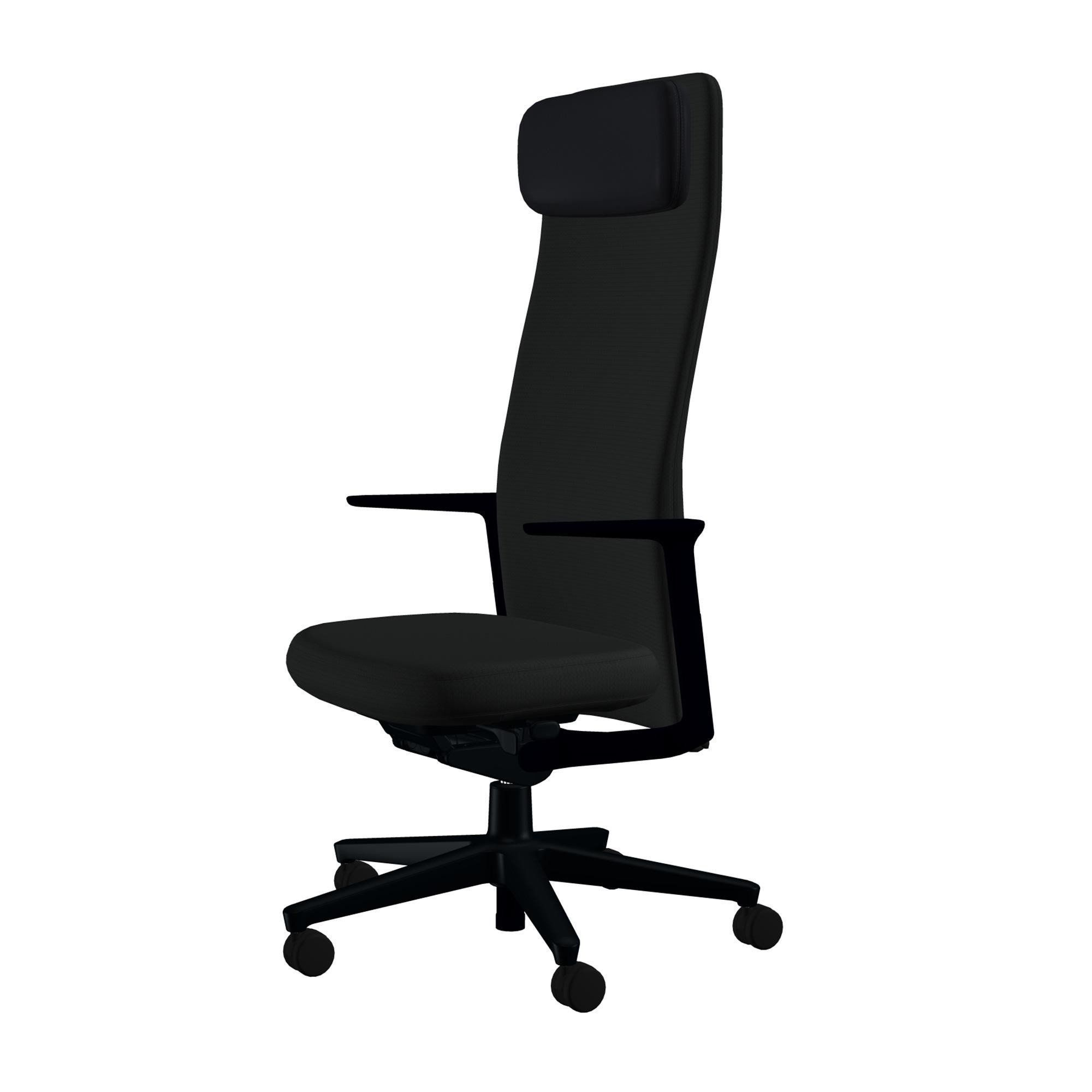 Vitra   Pacific Chair Swivel Chair High Backrest   Black/seat Upholstery  Fabric ...
