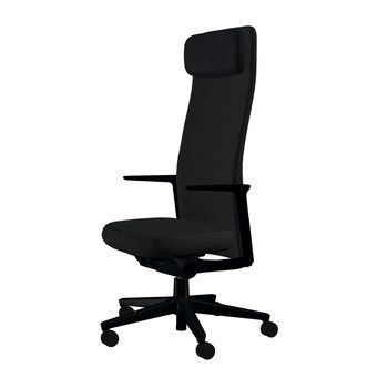 - Pacific Chair Bürostuhl hohe Rückenlehne - schwarz/Bezug Stoff 66 schwarz/BxHxT 57,5x120x56cm/Gestell schwarz/mit weichen Rollen