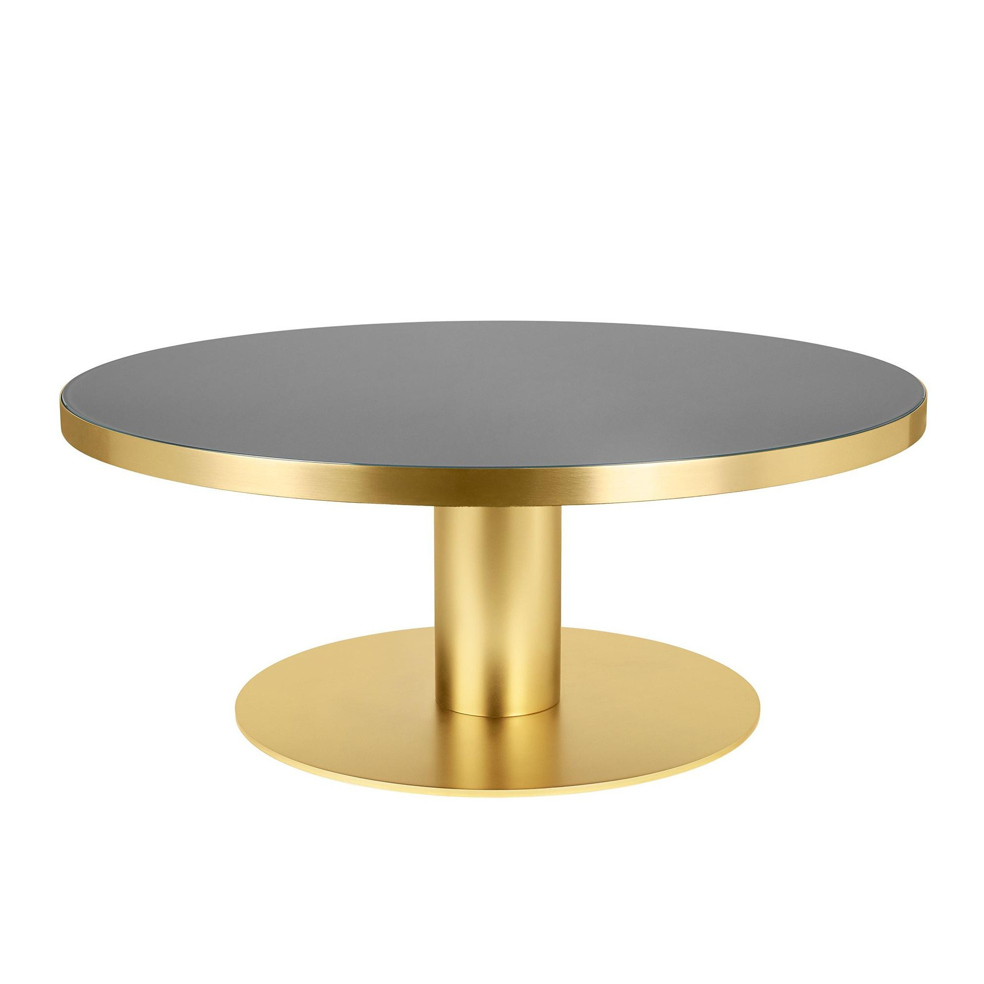 Gubi 2 0 Coffee Table Frame Brass O110cm Ambientedirect