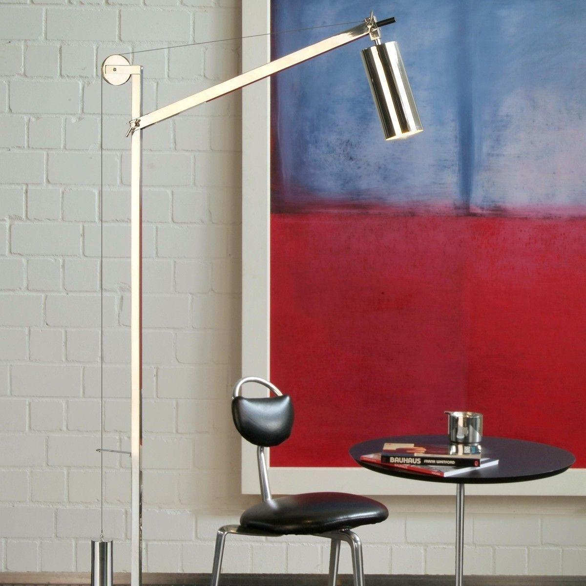 bh 23 bauhaus stehleuchte mit gegengewicht tecnolumen. Black Bedroom Furniture Sets. Home Design Ideas