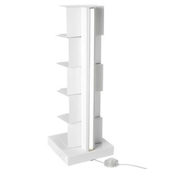 Opinion Ciatti - Ptolomeo Luce 75 LED Büchersäule - weiß/matt/25x25x75cm/mit LED-Beleuchtung