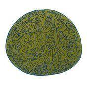 Nanimarquina - Bichos y flores Teppich - pistaziengrün/Neuseeland-Wolle/Hand getuftet/127x140cm