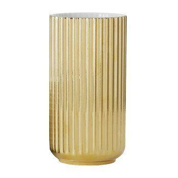 Lyngby Porcelæn - Lyngby Porzellan Vase H20cm - gold/handgemachtes Porzellan/Ø10.5cm