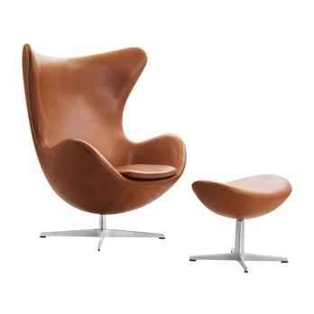 Fritz Hansen - Aktion Egg Chair/Das Ei™ Sessel + Hocker Leder