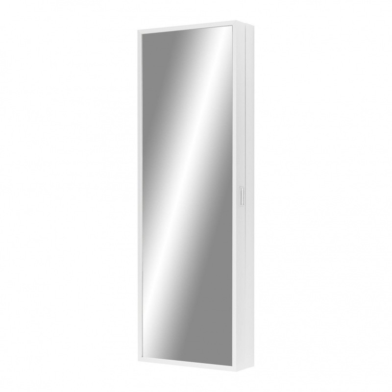 Kristalia Foot Box Shoe Cabinet White Mirror 190x65x20cm 6 Shelves