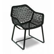 Kettal - Maia Armchair / Garden Chair - black/chestnut/frame manganese black
