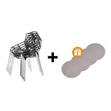 Magis - Chair One 4er Set + 4 Sitzauflagen gratis