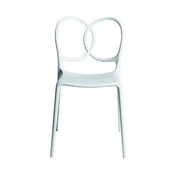 - Sissi Stuhl - weiß/matt/für Innen- und Außenbereich geeignet