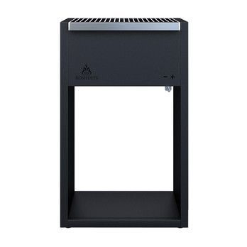 Röshults - Röshults BBQ Grill 100  - anthracite/incl. charcoal holder with ash catcher/incl. 1 stainless cooking grate