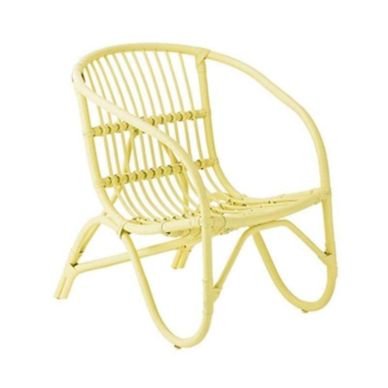 Ordinaire ... Bloomingville   Salt Rattan Chair   Yellow/LxWxH 61x52x65cm ...
