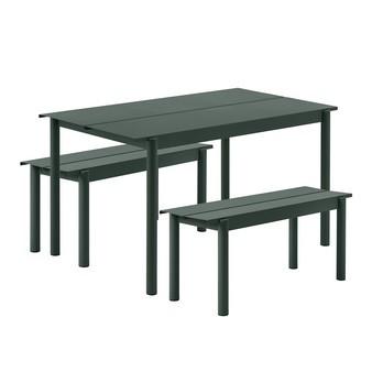 Muuto - Linear Steel Gartenset L 140cm