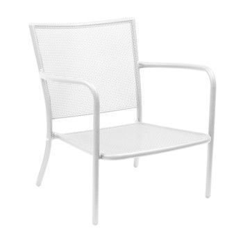 emu - Athena Garten-Loungesessel - weiß/Stahl matt/LxBxH 78x74x78cm