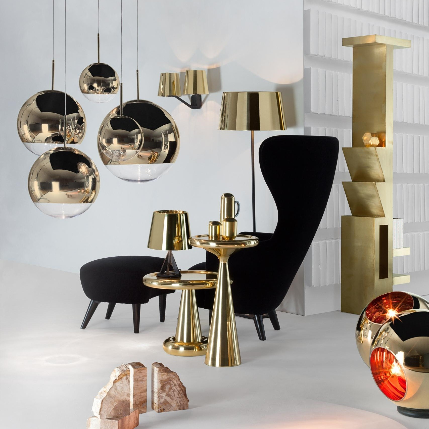 Tom Dixon Mirror Ball Pendant Pendelleuchte Gold