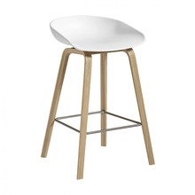 HAY - About a Stool AAS 32 Bar Stool Low Matt Lacquered Oak Base