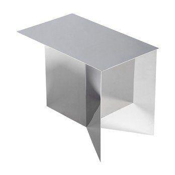 HAY - Slit Table Oblong Beistelltisch - spiegel/poliert/H 35.5cm/49.3x27.5cm