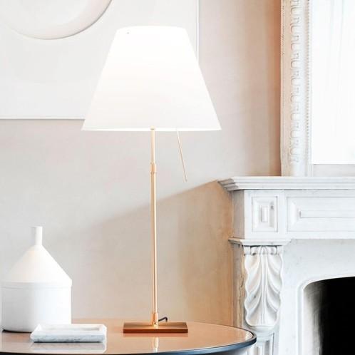 Luceplan - Costanza Brass Tischleuchte mit Fuß